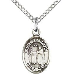 St. Valentine of Rome Petite Sterling Silver Pendant