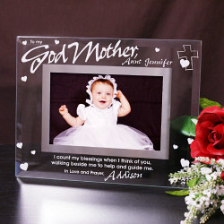To My Godparent Glass Picture Frame