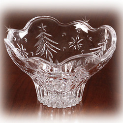 Crystal Christmas Bowl