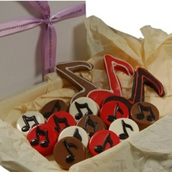 Hand Decorated Music Oreo Cookie Gift Box