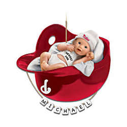 Philadelphia Phillies Personalized First Christmas Ornament