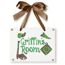 Personalized Baseball Green Name Plaque