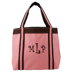 Personalized Pink Mini Tote
