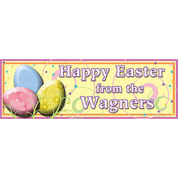 Easter Swirls Personalized Banner