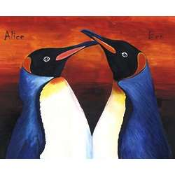 Pair of Penguins Personalized Print