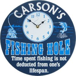 Fishing Hole Personalized Wall Clock
