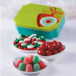 Mistletoe Christmas Candy Tin