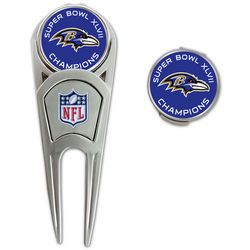 Baltimore Ravens Super Bowl Champions Divot Tool with Hat Clip