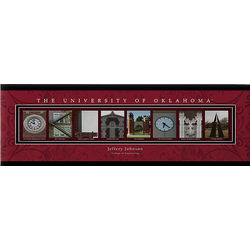 Personalized University of Oklahoma Photo Letter 12x36 Canvas