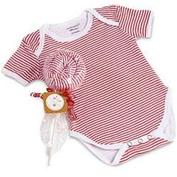 Lollipop Shaped Red Rompers