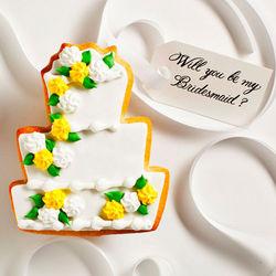 Edible Hannah Wedding Cookie Card