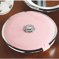 Retro Pink Lighted Dual Compact Mirror