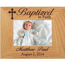 Baptism Personalized 3.5x5 Photo Wood Frame