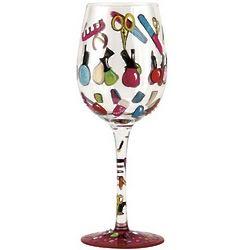 Mani Pedi Wine Glass