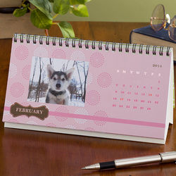 Personalized Through The Year Desk Calendar