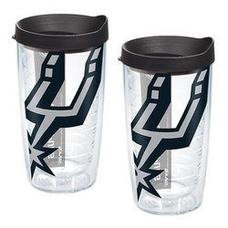 San Antonio Spurs Colossal 16 Oz. Tervis Tumblers with Lids