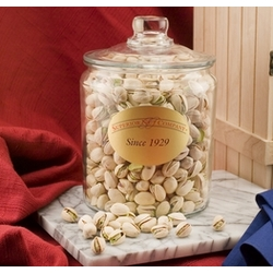 Colossal Pistachios in a Glass Jar