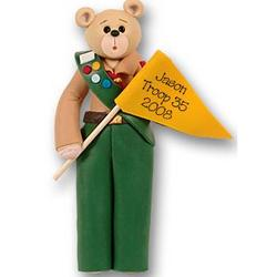 Bear Boy Scout Personalized Ornament