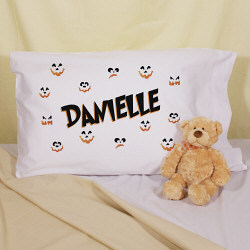 Pumpkin Faces Personalized Halloween Pillowcase