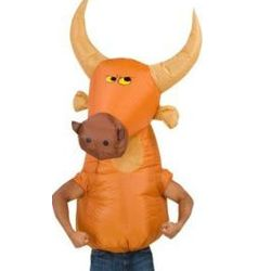Big Animal Head Bull Costume for Adult