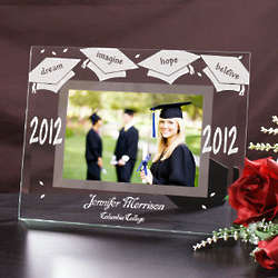 Personalized Glass Graduation Picture Frame