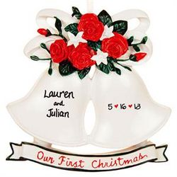 Our First Christmas Wedding Bells Ornament