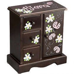 Personalized Girl's Musical Jewelry Armoire