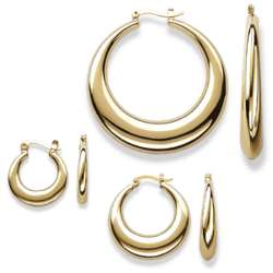 Tapered Hoop Earring Set