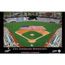 LA Dodgers Personalized Stadium 16x24 Canvas