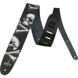 Blackblood Skull Gothic Leather Guitar Strap