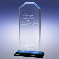 Personalized Blue Cornerstone Reflection Award