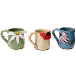Stoneware Flower Mug