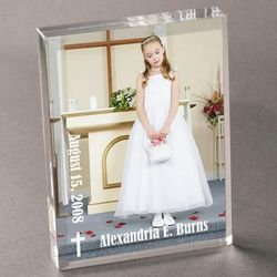 Acrylic Confirmation or First Communion Picture Frame