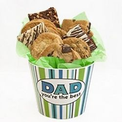 Assorted Cookies and Brownies Best Dad Gift Bucket