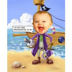 Pirate Caricature Personalized Art Print
