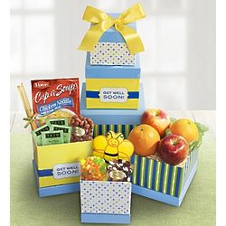 Get Well Wishes Fruit and Sweets Tower