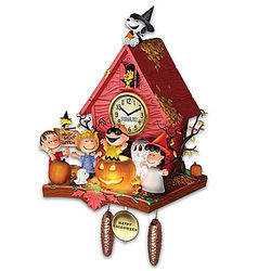 Peanuts Halloween Party Cuckoo Clock with Lights and Music
