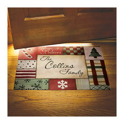 Personalized Quilted Christmas Doormat