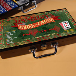Personalized House of Cards Poker Set