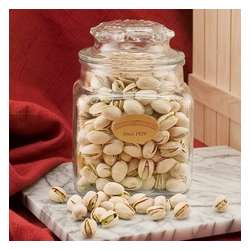 Colossal Pistachios in a Decanter