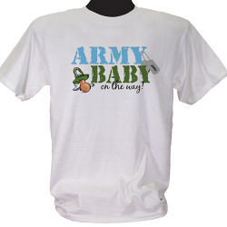 Military Baby on the Way Personalized Maternity T-Shirt
