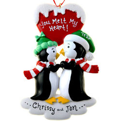 Penguins You Melt My Heart Couple Ornament