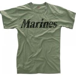Vintage Marines Olive Drab T-Shirt