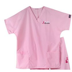 Breast Cancer Awareness Scrubs Top