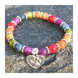 Rainbow Bridge Pet Sympathy Bracelet