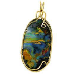 Boulder Opal Mosaic Pendant