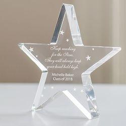 Personalized Graduation Star Plaque