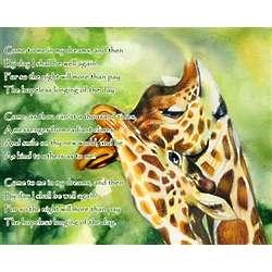 Savanna Romance Personalized Art Print