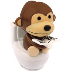 Monkey on Toilet Solar Power Motion Toy