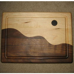 Wooden Moonscape Cutting Board